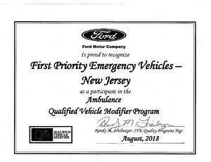 Ford QVM Certifcation 201810232018-001