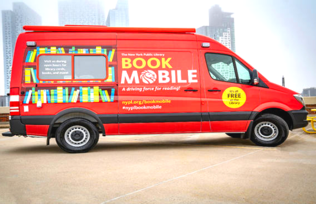 New York City Public Library Mobile Library Van First Priority Emergency Vehicles