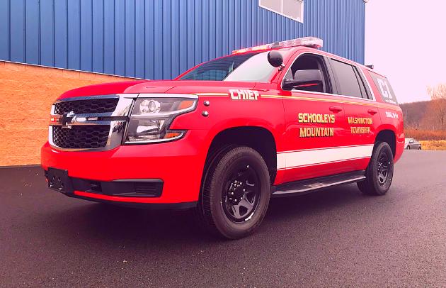 Schooleys Mountain Custom SUV Tahoe Fire Department First Priority Emergency Vehicles